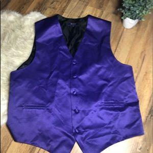 Purple Tuxedo Vest
